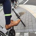 スーツで自転車通勤するときに役立つ「裾バンド」