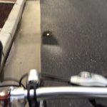 雨の次の日の自転車通勤は水たまりに注意!