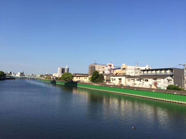 朝日橋からの景色