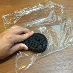 自転車の予備チューブはラップで包んで保管!
