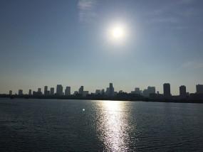 淀川の朝日