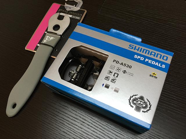 PD-A530 片面SPDとペダルレンチ