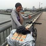 自転車で日本一周しているよっちゃんに遭遇