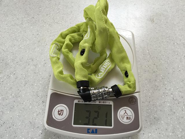重量は321g