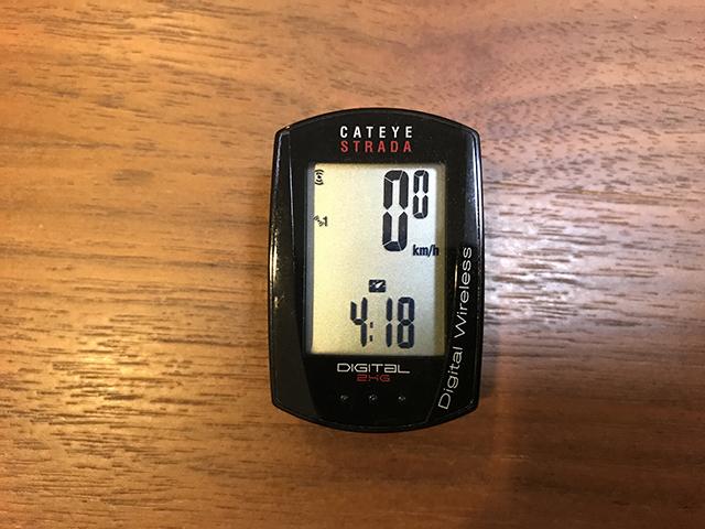 スピード+時計の画面