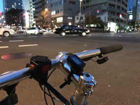 夜の自転車通勤
