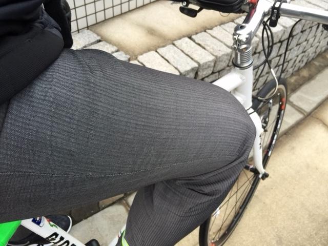自転車通勤時の太もも