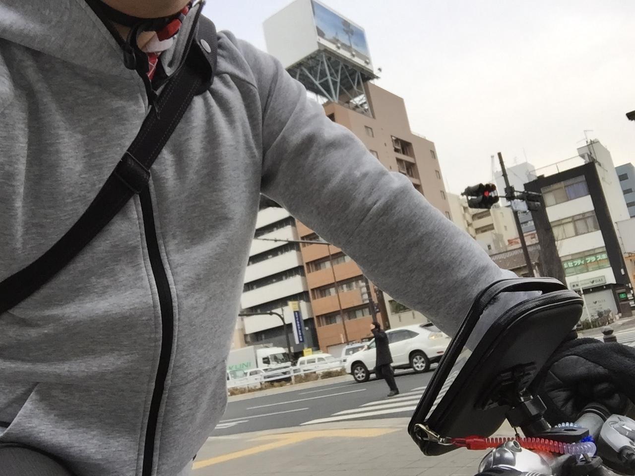 自転車通勤 パーカー