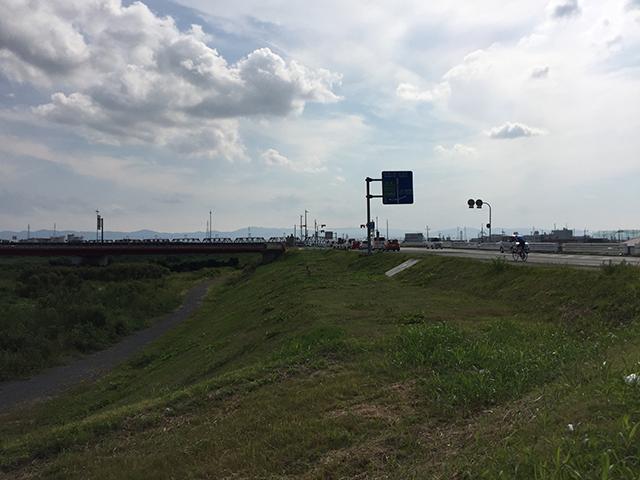 淀川サイクリングロードの終点