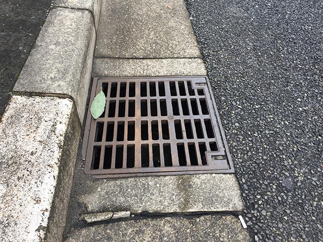 路肩の排水溝