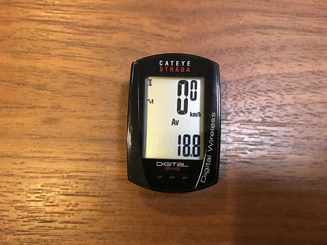 スピード+平均速度の画面
